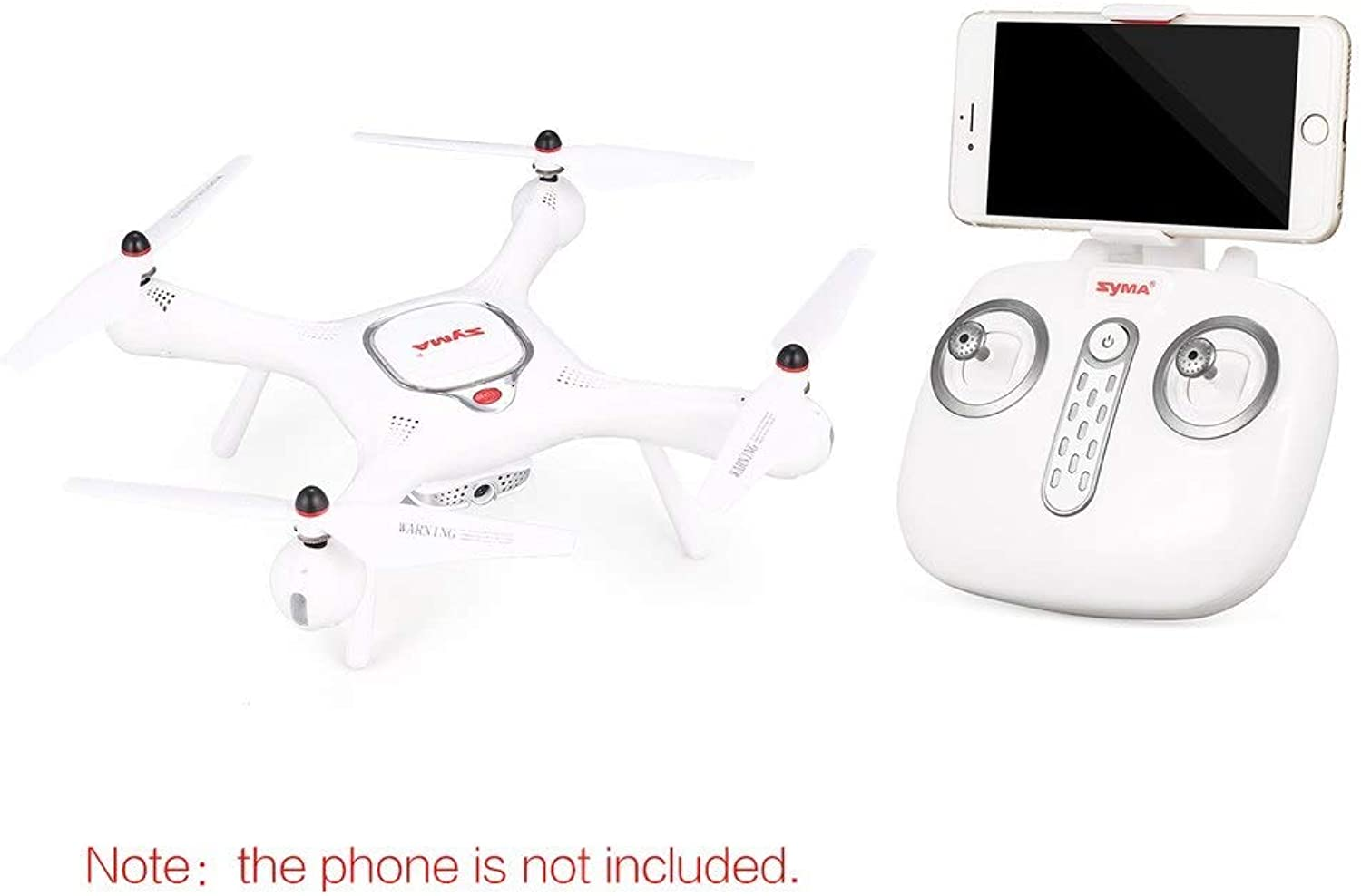 Generic SYMA X25PRO GPS RC Drone with Adjustable 720P HD WiFi Camera Follow Me Flight Plan Altitude Hold RC Quadcopter Helicopter Drons White