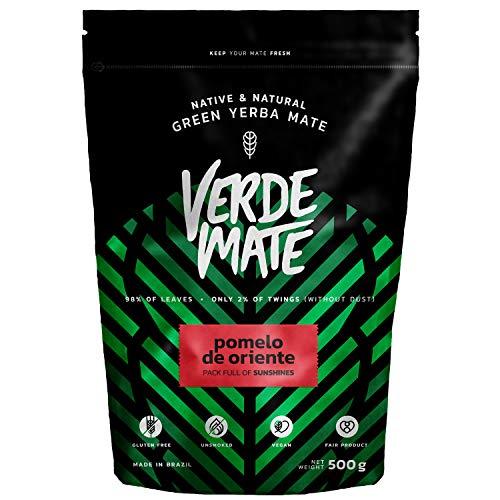 Yerba Mate Verde Mate Green Pomelo De Oriente 500g Mate, Mate Pomelo, Yerba Mate dal Brasile, Fruttato yerba mate, Senza glutine, Non si tratta di secchi fumo