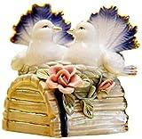 Adornos De Estatua Esculturas De Cerámica Animal Estatua Adornos Lucky Little Pigeons Craft Mesa De Té Decoración De Escultura para El Hogar