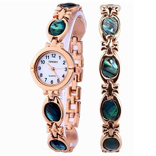 Time100 Orologio da Polsa Gemma decorativa Oro#W50130L.02A