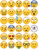 30 x Edible Cupcake Toppers Themed of Emoji Collection of Edible Cake Decorations | Uncut Edible on Wafer Sheet