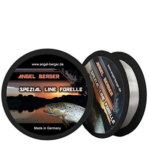 Angel-Berger Spezial Line Angelschnur Zielfischschnur Aal, Forelle, Hecht, Zander, Karpfen, Dorsch, Weissfisch (Forelle, 0,18mm / 3,40Kg)