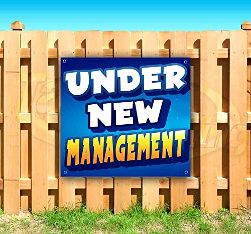 Under New Management! 13 oz Heavy Duty Vinyl Banner Sign with Metal Grommets, New, Store, Advertising, Flag, (Many Sizes Available)