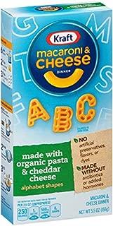 Kraft Macaroni & Cheese Organic Alphabet Shapes Pasta (5.5 oz Boxes)