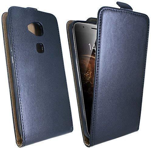 ENERGMiX Handytasche Flip Style kompatibel mit Huawei Ascend G8 in Schwarz Klapptasche Hülle