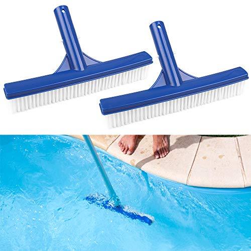 Fulushou 2 Piezas Cepillo para Piscina, Plastico Cepillo para Limpieza de Piscinas para Pared de Piscina y Suelo de Piscina, 25 * 4.7cm