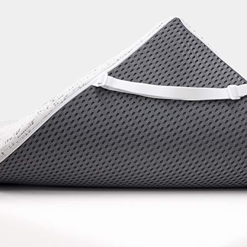ViscoSoft 3 Inch Charcoal Memory Foam Mattress Topper Twin XL - Extra Long Select High Density Ventilated Mattress Pad
