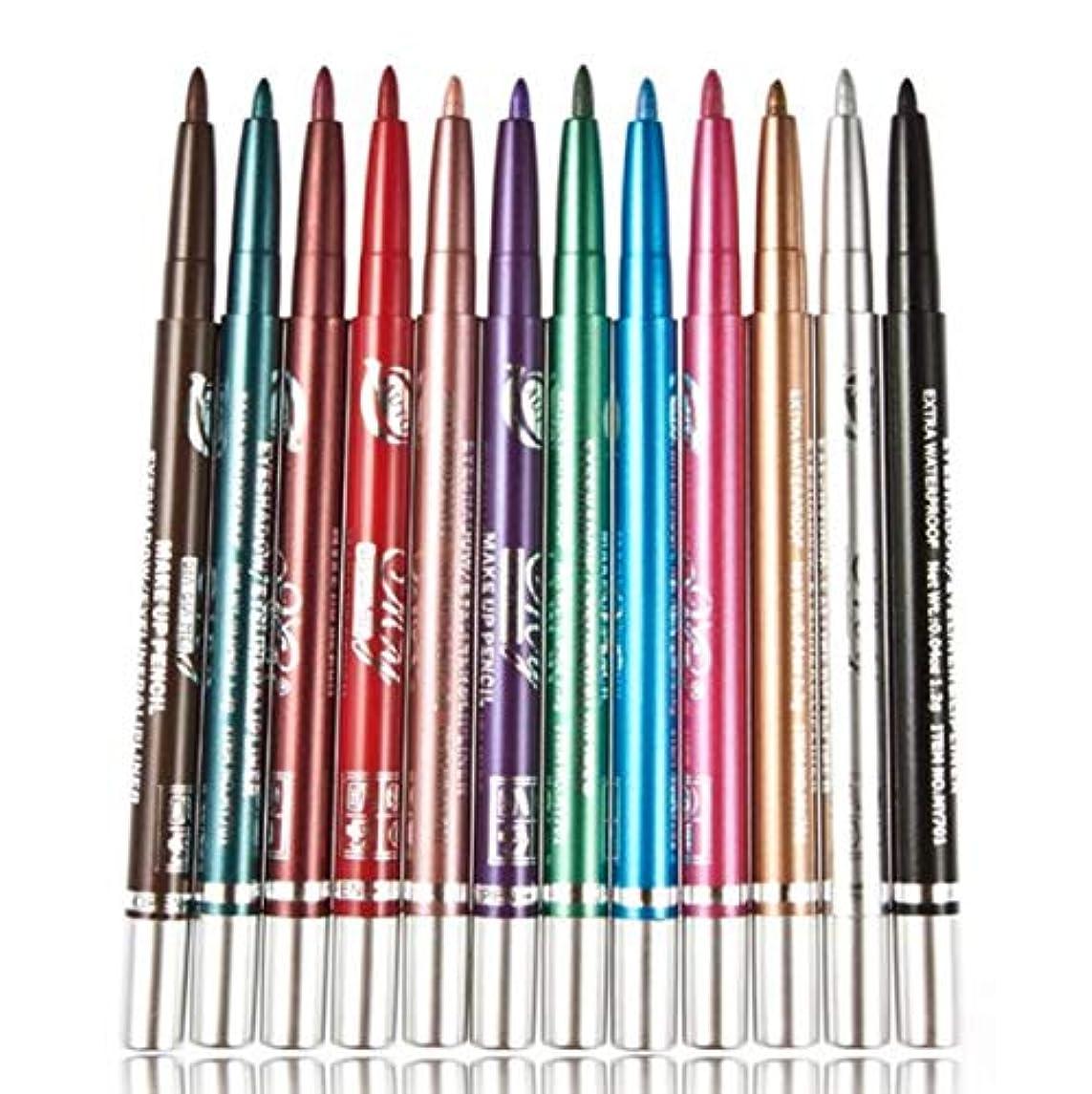最も早い不毛の聡明Odette 12色 アイシャドウペン アイライナー アイライナー ペンシル Eyeliner リップライン 速乾性 防水性 防汗性 長持ちし 化粧品をはがせるのが簡単 (Color-#5)
