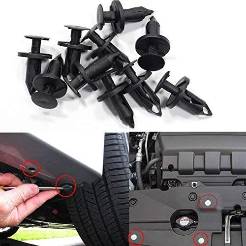 Lot de 50 rivets de retenue de voiture en plastique pour panneau intérieur (8,76 × 21,37 mm, noir)