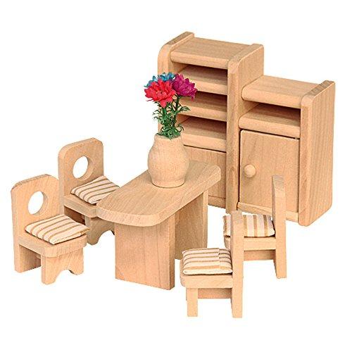 """Beluga Spielwaren 70124 - Puppenhausmöbel \""""Esszimmer\"""", 7-teilig"""