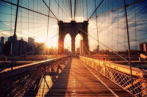 MTAMMD Puzzles Puente De Brooklyn El Rompecabezas De Madera 500 1000 Piezas Ersion Rompecabezas Regalo De Juguetes Educativos para Niños Adultos