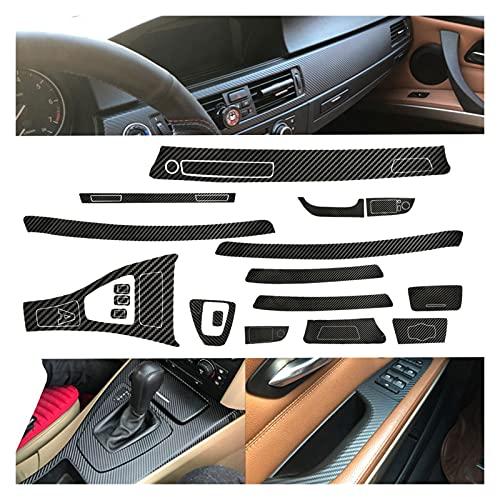 Anteprima Etiqueta engomada del ajuste del vinilo del estilo de fibra de carbono del automóvil 5D para BMW 3 Serie E90 2005 2006 2007 2009 2009 2010 2011 2012 2013 Accesorios