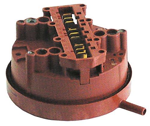 Hobart Pressostat - Conector para lavavajillas FX, GX, 6 mm, 3 zonas de presión, conexión horizontal 6 mm, 40/25, diámetro 78 mm