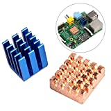 JBtek MakerFire Copper Aluminium Heatsink for Pi B+ & Pi 2 RPi, 2 Set
