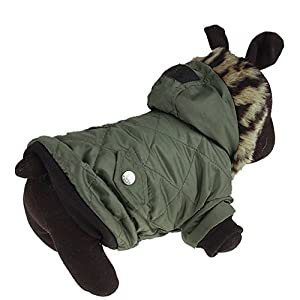 Walaka Hiver Vetements Chien Petite Taille Chihuahua Yorkshire Bouledogue Francais Manteau- Animal De Compagnie Chat Chiot Costume Chaud Manteau
