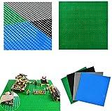 WOWOSS 4Pcs Placas Base básicas para Ladrillos de construcción, 10 '' x 10 '', Placas Base para la...