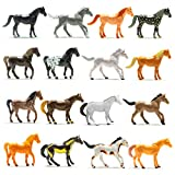 Prextex 16 piece realistic looking plastic horses Different poses and designs on each horse Perfect cupcake topper for horse themed parties and handouts. Horse Figures are environmentally friendly, safe, and non-toxic. Great for party favors and part...