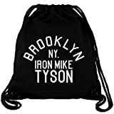 Brooklyn NY Iron Mike Tyson - Gym Bag Turnbeutel aus Fair Trade Bio Baumwolle in hochwertiger...