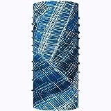 Buff Coolnet UV Schlauchschal + UP Schlauchtuch Set | nahtloses Multifunktionstuch Radfahren | Halstuch Laufen | Kopftuch atmungsaktiv UV-Schutz | Stirnband | Bluebay - 122509.707.10.00