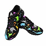 InterestPrint Women's Lightweight Casual Walking Athletic Shoes Running Sneakers 9 B(M) US Dinosaur