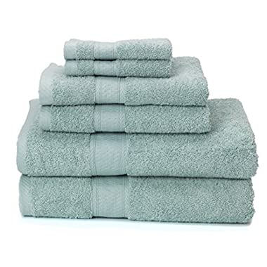 700 GSM Premium Bath Towels Set of 6 (2 Bath Towels 30  X 52 , 2 Hand Towels 16  X 28  and 2 Washcloths 12  X 12 ) - 100% Cotton, Super Soft, Ultra Absorbent (Duck Egg)