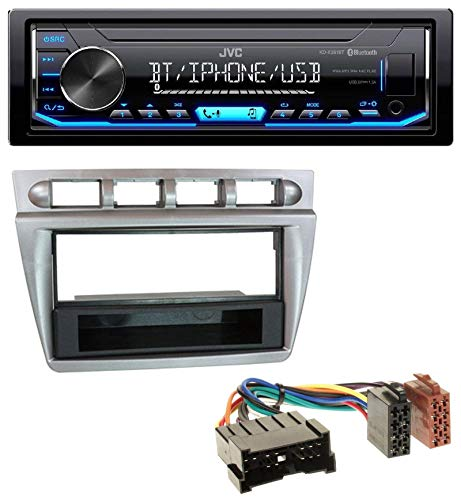 caraudio24 JVC KD-X351BT AUX USB Bluetooth MP3 Autoradio für Kia Picanto (2004-2007)