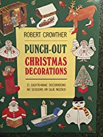 Punch-Out Christmas Decorations 0671684000 Book Cover