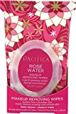 Pacifica Beauty Makeup Removing Wipes with Rose & Coconut Water for All Skin Types(Vegan & Cruelty-Free), Rose Water, 30 Count