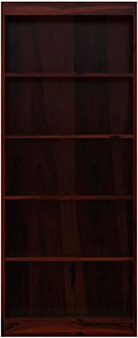 Aprodz Boise Sheesham Wood 5 Shelves Standard Home Office Bookcase