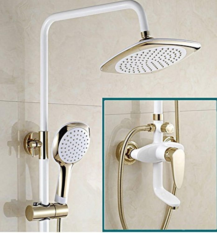 Bijjaladeva Bathroom Sink Vessel Faucet Basin Mixer Tap shower full copper white bathroom Showers packaged booster sprinklers woman wash in cold water faucet handheld shower
