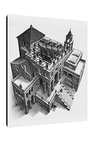 Quadro intelaiato Pronto da Appendere Escher 19 cm 50x70 Stampa su Tela Canvas Vendita Falsi di Autore Il Negozio di Alex