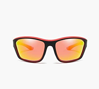 Fashion New Sports PC Frame Polarized Sunglasses Riding Ultra Light Men's Colorful Eye Protection Sunglasses Retro (Color : Orange)