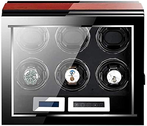 Six enrouleur automatique de la montre, un moteur plus silencieux, écran LCD tactile numérique avec cinq du mode de rotation + bois laque piano