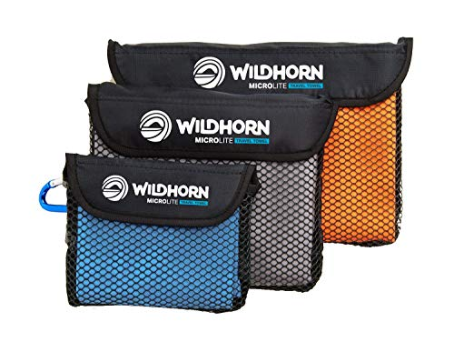 Wildhorn Microlite Travel Towel Set - Microfiber Quick Dry Towel Bundle for Camping, Hiking & Backpacking