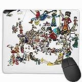 Rae Esthe Europa universalis - Mapa de personificaciones Nacionales - 1444 Alfombrilla de ratón para Juegos con Borde Cosido para computadora portátil