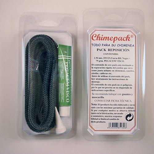Kit reparación chimeneas cordón fibra de vidrio + pegacem visco (8mm)