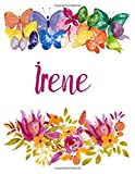 Irene: Flower Notebook Writing Journal for Girls,Personalized With Name,  Personalized Writing Journal,Notebook for Women and Girls, Personalized Notebook/Journal Gift
