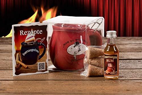 Feuerzangentasse 1er-Set, Rot/Rühmann Schlock (mit Rum) - für Feuerzangenbowle