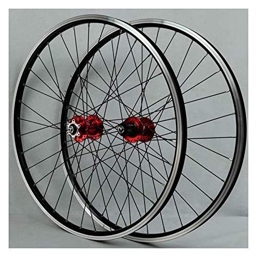 YOOXI Juego de Ruedas de Bicicleta V Brake 26 Pulgadas, Doble Pared, Aleación de Aluminio, Freno de Disco, Bicicleta MTB, Ruedas Híbridas (Color : 26inch)