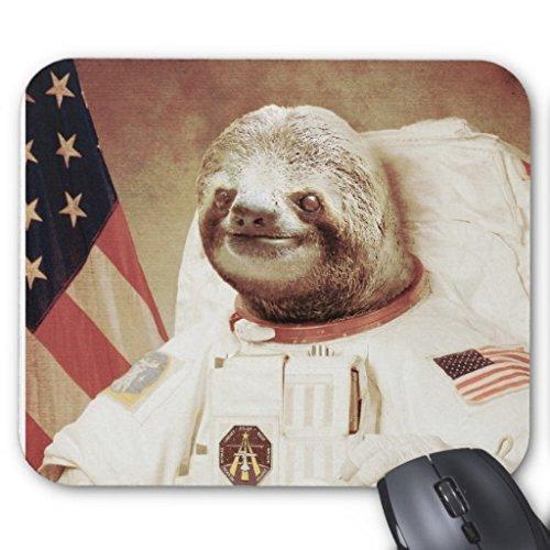 Poem Magine Astronaut Sloth Rectangle Non-slip Rubber Mouse Pad 220mm x 180mm x 3mm