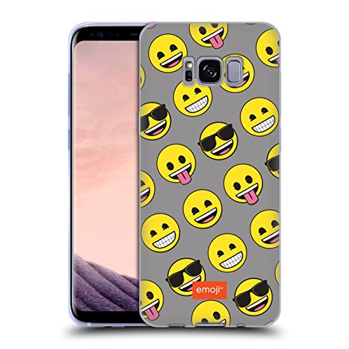Head Case Designs Officially Licensed Emoji Smileys Flat Soft Gel Case Compatible with Samsung Galaxy S8