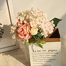 Maikouhai Artificial Flowers, Bride Bridesmaid Wedding Bouquet Bridal Silk Fake Holding Flowers Party Hydrangea Decor for Home Cafe Hotel Bedroom - 25x29cm (Pink)