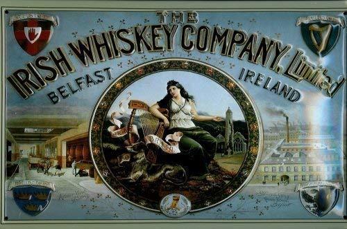 Nostalgische Welten Andreas Schmidt Ierse Whiskey Company Belfast Ierland metalen wandplaat 20 x 30 cm