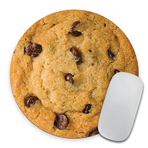 Giant Chocolate Chip Cookie - Circle Mouse Pad - Mousepad - Funny - Coworker Gift Teacher Gift