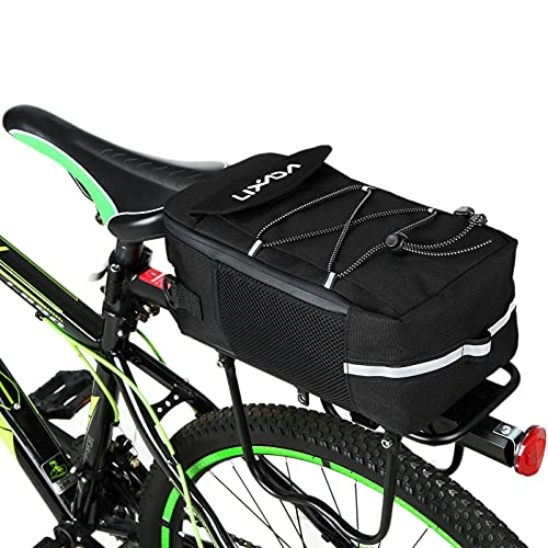 Lixada Fahrrad Gepäckträgertasche Fahrrad Sitz Isolierte Fahrradtaschen, Multifunktionale Rollertasche Lenkertasche Umhängetasche Handtasche, mit Regenschutz, 30 * 15 * 11,5 cm