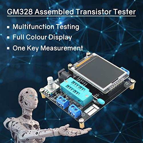 REES52 GM328 Full Assembled Transistor Tester LCR Diode Capacitance ESR Meter PWM Square Wave Frequency Signal Generator