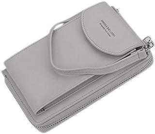 Women's PU Leather Wallet Clutch Coin Purse Casual Card Holder Handbag Crossbody Bag Phone Pouch