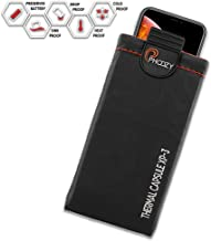 PHOOZY XP3 Series, Rugged Thermal Phone Case - Prevent Phone from Overheating in The Sun, Fits iPhone 8/X/XR/Xs/11 Pro, Galaxy S8/S9/S10, and Similar Sized Phones [Plus - Cosmic Black]