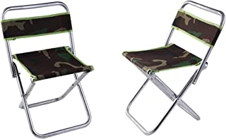 YFLY Portable Folding Camping Stools, Ultralight Compact Camp Footrest Stool, Mesh Bag for Storage, Great for Travel, a Quick Rest Outdoors and for Chores Close to The Ground