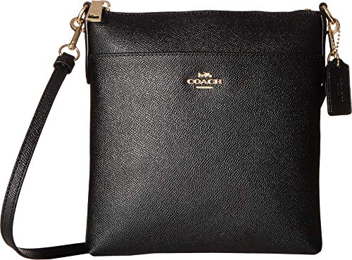 COACH Crossgrain Messenger Crossbody Black/Gold One Size